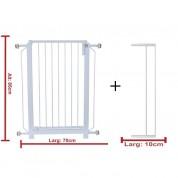 Grade Portão(70cm) + Extensor(10cm) de Proteção Para Cães e Crianças