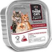 Patê Three Cats Paladar Exigente Carne para Gatos Adultos 90g