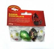 Petisco Sabor Chocolate Formato Ovinho Chocodogs 25g