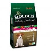 Ração Golden Seleção Natural Cães Filhotes Mini Bits Frango e Arroz 10,1kg