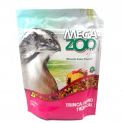 Ração Mega Zoo Mix Trinca-Ferro Tropical 350g