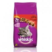 Ração Whiskas Adulto 7+ Sabor Carne 3kg