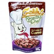 Sachê Gatitos Receitas do Chef Carne Adulto 85g