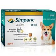 Simparic Antipulgas Cães 10,1 a 20kg 3 Comprimidos 40mg