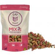 Snacks para Gatos Mix 3 em 1 Cat Menu - 40g