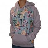 Moletom Free Surf Flower Feminino