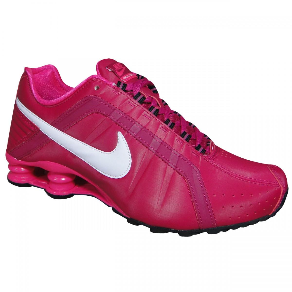 nike shox junior feminino preto com rosa