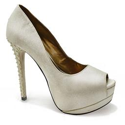 Peep Toe para Casamento Belmon - 29-02 - Off White - 33 ao 43