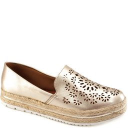 Alpargata Metalizada Flatform Sapato Show 3031