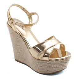 Anabela Metalizada Sapato Show 891516