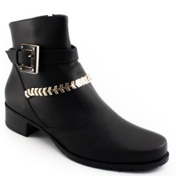 Coturno Detalhes Metalizados Sapato Show 9671e