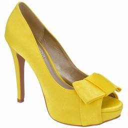 Peep Toe Amarelo Numeração Especial Belmon - 13232