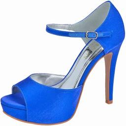 Peep Toe Azul Numeração Especial Belmon - 13202