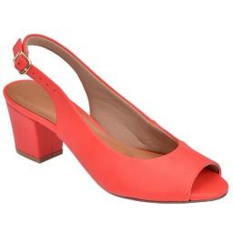 Peep Toe Chanel Skippy - 1753 Vermelho