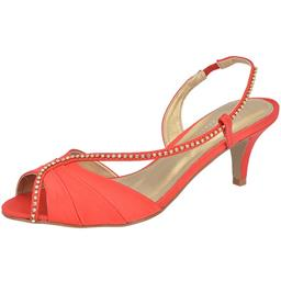 Peep Toe Feminino Strass Belmon - 23003 - Vermelho - 33 a 43