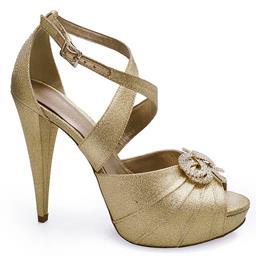 Sandália Com Laço em Strass Belmon 13120
