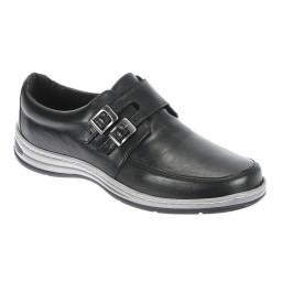 Sapato Masculino com Fivela Italeoni - 809 Preto