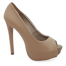 Sapato Peep Toe Feminino de Salto Alto - 2201