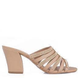 Tamanco Com Strass Numeração Especial Sapato Show - 981615