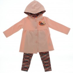 Agasalho Alakazoo Infantil Menina Casaco Capuz Legg Estampad