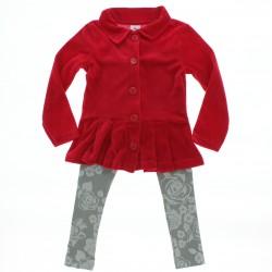 Agasalho Brandili Infantil Menina Casaco Plush Legg Floral 2