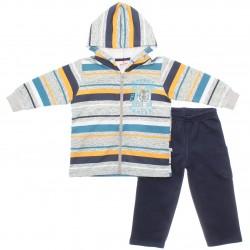 Agasalho Brandili Infantil Menino Capuz Listras Street 29338