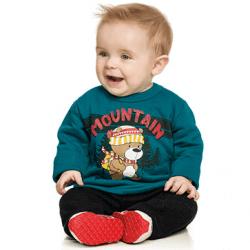 Agasalho Elian Bebê Infantil Elian Menino Mountain Urso 30909