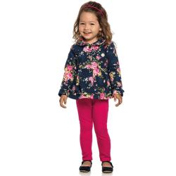 Agasalho Elian Infantil Menina Casaco Floral Molecotton 30889