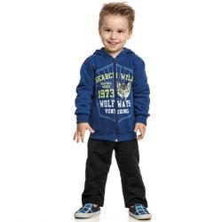 Agasalho Elian Infantil Menino Moletom Jaqueta Lobo Search 30876