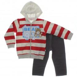 Agasalho Elian Infantil Menino Moletom Listras Bear 29370