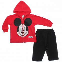 Agasalho Mickey Bebê Menino Capuz Estampa Rosto 30951