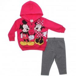 Agasalho Minnie Bebê Menina Capuz Minnie e Mickey 30950