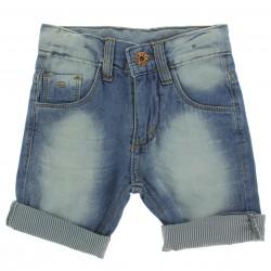 Bermuda Jeans Byla e Boby Infantil Menino Barra Listra 29154