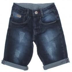 Bermuda Jeans Frommer Menino Barra Virada e Puido 30513
