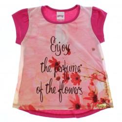 Blusa Alakazoo Infantil Menina Estampa Enjoy Flor 28824