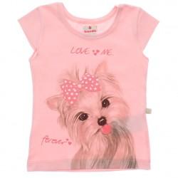 Blusa Brandili Beb� Menina Estampa Cachorro Love Me 29953