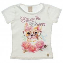 Blusa Infantil Colorittá Cachorro com Óculos Flowers 31504