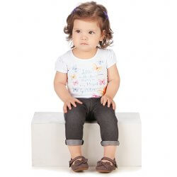 Blusa Infantil Colorittá Little Butterffies Borboletas 31596