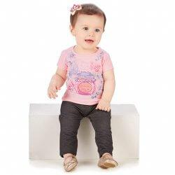 Blusa Infantil Colorittá Pote Com Laço e Flores 31500