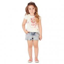 Blusa Infantil Colorittá Regador com Flores Strass 31501