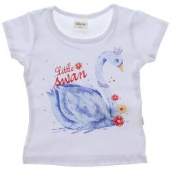 Blusa Infantil Elian Estampa Cisne com Coroa 31472
