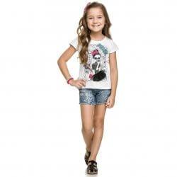 Blusa Infantil Elian Estampa Fashion e Saia Tule 31482