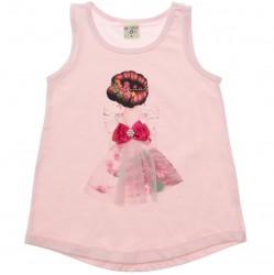 Blusa Infantil Have Fun Estampa Bailarina Tule Strass 30717