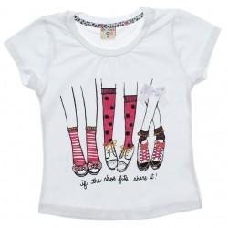 Blusa Infantil Have Fun Estampa Sapato Glitter Laço 30719