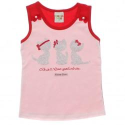 Blusa Infantil Have Fun Regata Gatinhas Glitter 30208