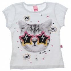 Blusa Infantil Menina Livy Gatinho Óculos Estrela 31807