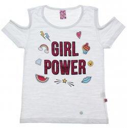 Blusa Juvenil Menina Livy Girl Power Recorte Ombro 31791