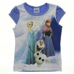 Blusa Manga Curta Frozen Disney Estampa Glitter 28599