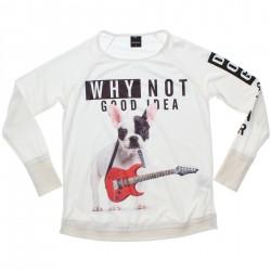 Blusa Manga Longa Rovitex Teen Estampa Cachorro Guitarrista 31113