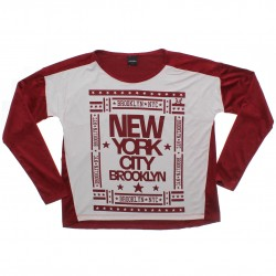 Blusa Manga Longa Rovitex Teen New York City 31032